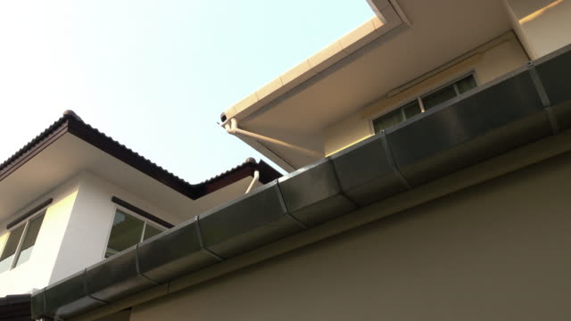 roof gutter on house