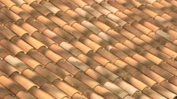 Roof in traditional tiles of the south.