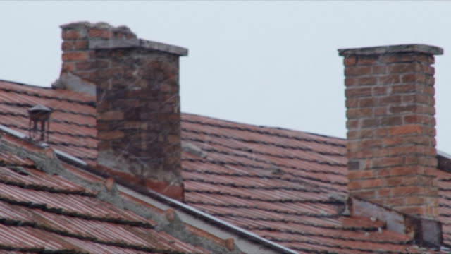 roof - chimney stock videos & royalty-free footage