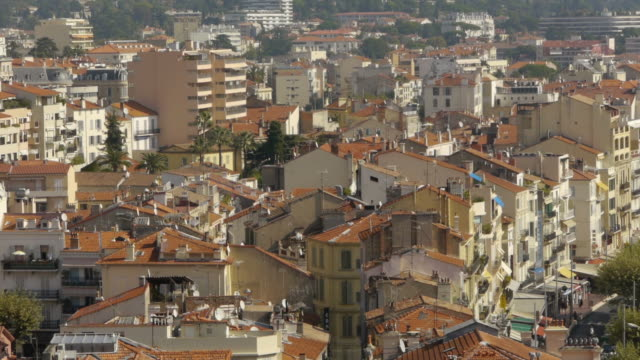 roofs of cannes, france - spoonfilm stock-videos und b-roll-filmmaterial