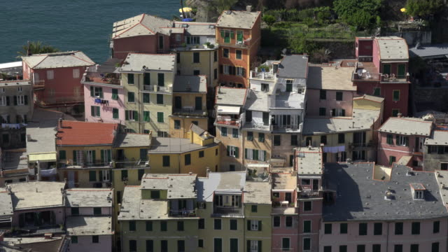 Roofs of italian village Vernazza