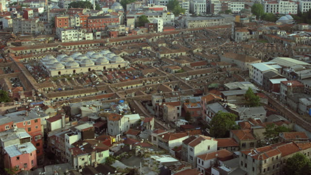 rooftop view of istanbul's grand bazaar - middle east stock videos & royalty-free footage