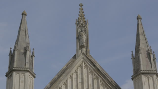 rooftop winchester cathedral - male likeness stock videos & royalty-free footage