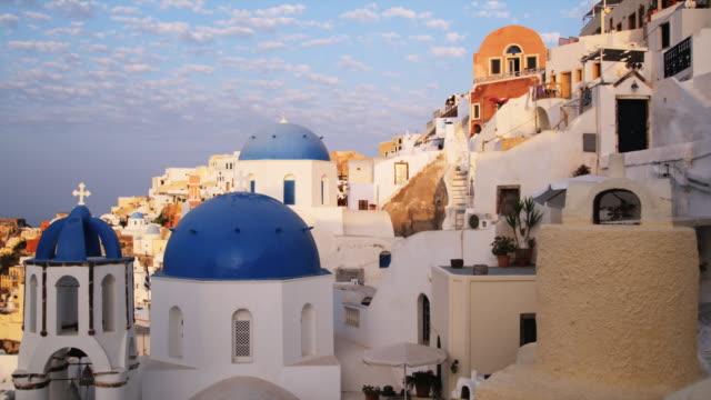 rooftops in greece - サントリーニ島点の映像素材/bロール