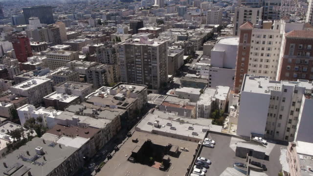 tl- rooftops in nob hill, san francisco - nob hill stock videos & royalty-free footage