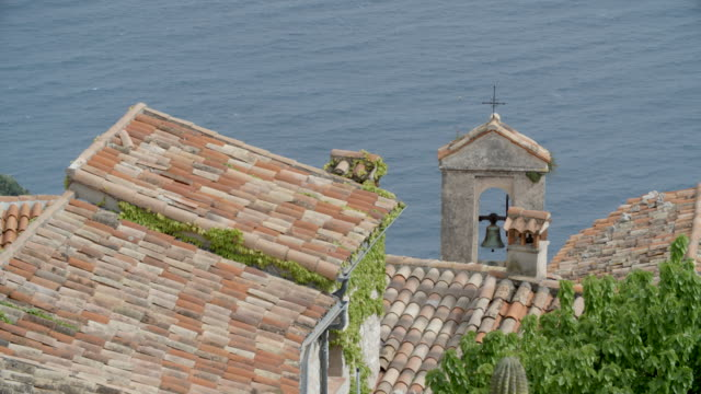 rooftops in ??ze / nice, france - provence alpes cote d'azur stock videos & royalty-free footage