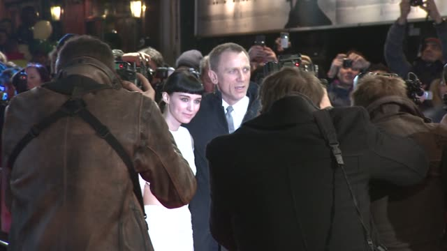Rooney Mara and Daniel Craig at The Girl With The Dragon Tattoo World Premiere at Odeon Leicester Square on December 12 2011 in London England