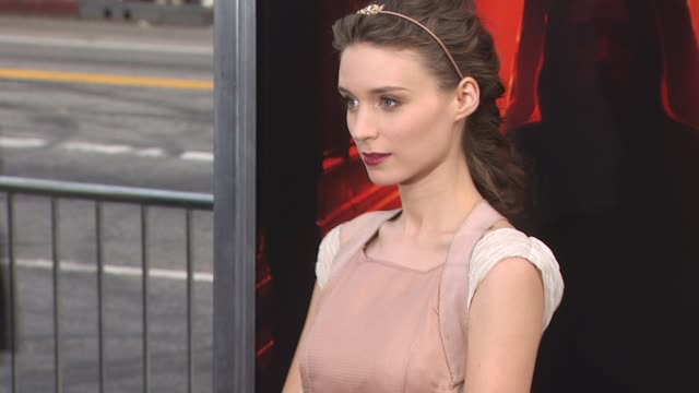 rooney mara at the 'a nightmare on elm street' premiere at hollywood ca. - hair accessory stock videos & royalty-free footage