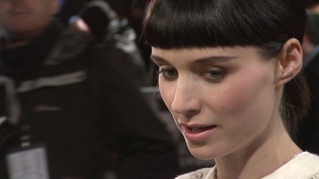 rooney mara at the girl with the dragon tattoo world premiere at odeon leicester square on december 12 2011 in london england - the girl with the dragon tattoo stock videos and b-roll footage