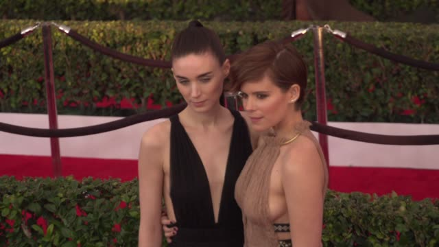rooney mara kate mara at 22nd annual screen actors guild awards arrivals in los angeles ca - kate mara stock videos and b-roll footage