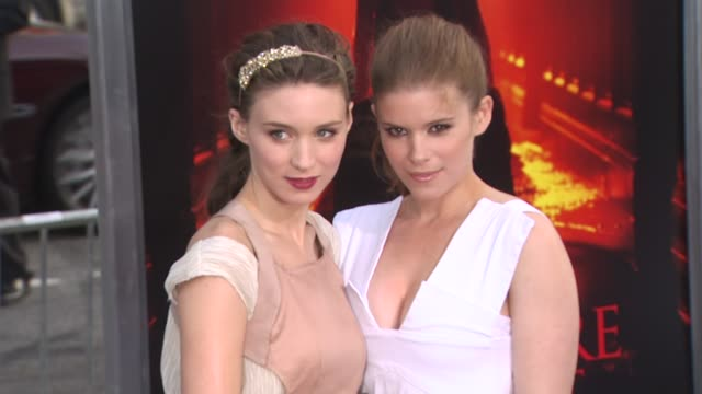 rooney mara kate mara at the 'a nightmare on elm street' premiere at hollywood ca - kate mara stock videos and b-roll footage