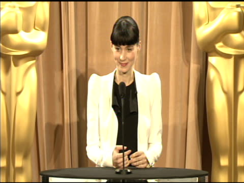 rooney mara on her character in 'the girl with the dragon tattoo' at the 84th academy awards nominations luncheon in beverly hills, ca, on 2/6/12 - tattoo stock videos & royalty-free footage