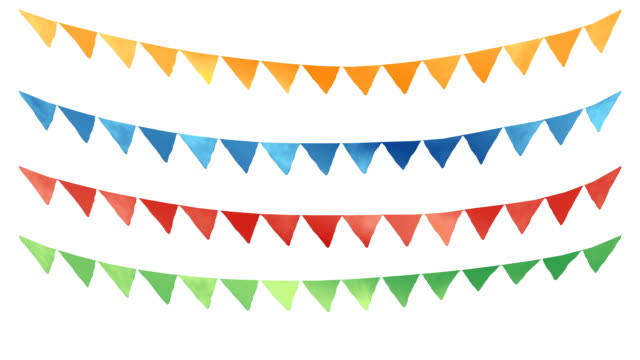 rope and flags - fiesta background stock videos & royalty-free footage