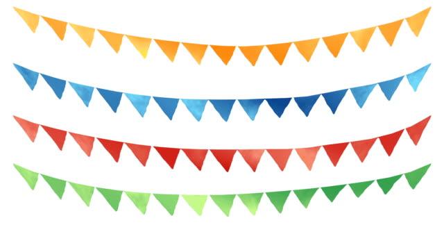 vídeos de stock e filmes b-roll de corda e bandeiras - carnaval evento de celebração