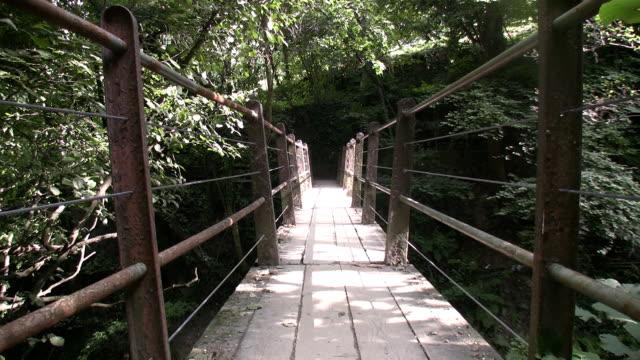 vidéos et rushes de pont en corde - traverser