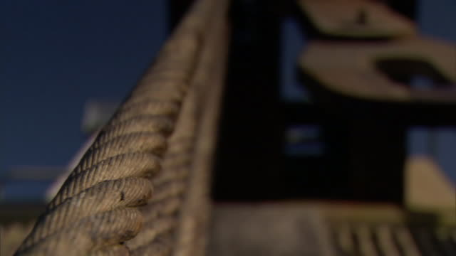 rope hangs from a structure. - rope stock videos & royalty-free footage