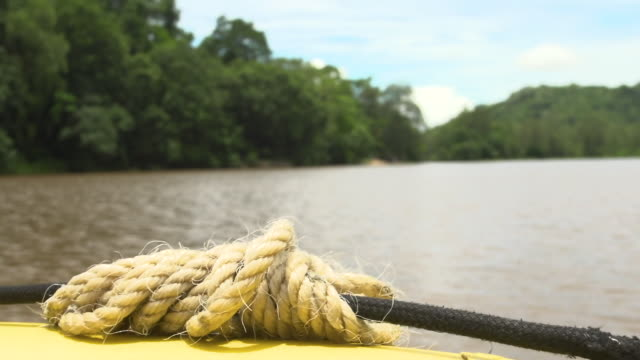 Rope on boat's bow