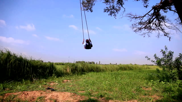 rope swing - swinging stock videos & royalty-free footage