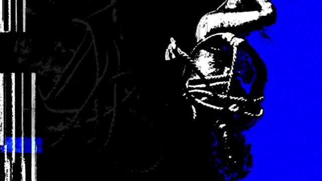 ropeman blau - gefesselt stock-videos und b-roll-filmmaterial