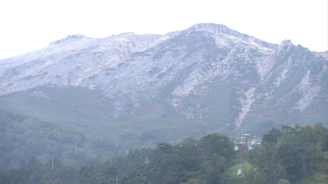 ropeway at mt ontake, nagano, japan - overhead cable car stock videos and b-roll footage