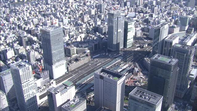Roppongi; central Tokyo; aerial shots