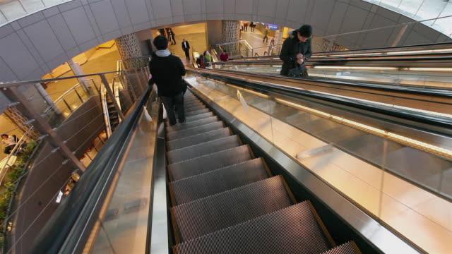 roppongi escalators - roppongi hills stock videos and b-roll footage