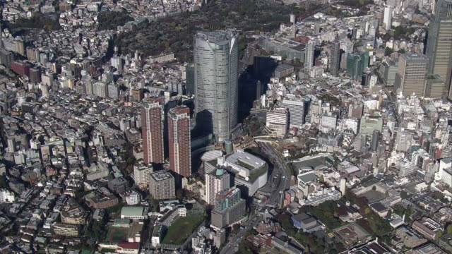 aerial, roppongi, tokyo, japan - roppongi hills stock videos and b-roll footage