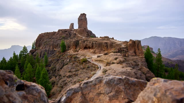 roque nublo time lapse video - grand canary - grand canary stock videos & royalty-free footage