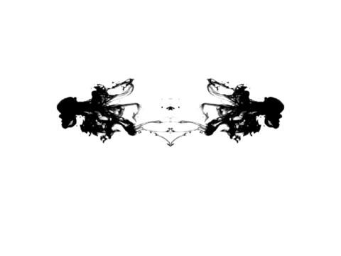 ロールシャッハテストインク blots - しみ点の映像素材/bロール