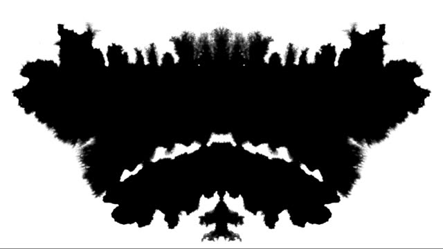 rorschach test ink mask spreading inkblot over screen abstract background intro - changing form stock videos & royalty-free footage