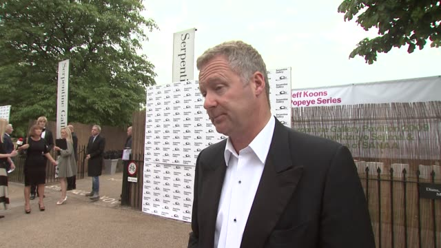 rory bremner on on being a presenter at the serpentine gallery's summer party, doing an impression of gordon brown ,on what else he is working on at... - rory bremner stock videos & royalty-free footage