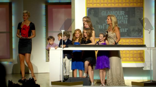 rory kennedy announces award winner ethel kennedy at glamour magazine's 22nd annual women of the year awards at carnegie hall on november 12, 2012 in... - ethel kennedy stock videos & royalty-free footage