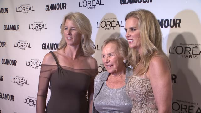 rory kennedy, ethel kennedy and kerry kennedy at glamour magazine's 22nd annual women of the year awards at carnegie hall on november 12, 2012 in new... - ethel kennedy stock videos & royalty-free footage