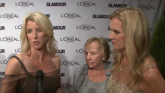 rory kennedy, ethel kennedy talk about ethel receiving an award tonight, rory says her mother ethel lives life purposefully and is her role model at... - ethel kennedy stock videos & royalty-free footage