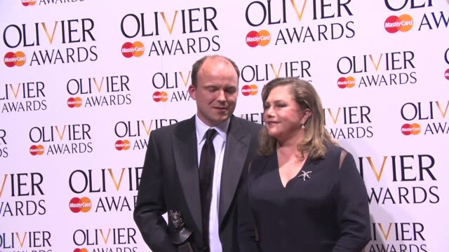 BROLL Rory Kinnear and Kathleen Turner at The Laurence Olivier Awards with MasterCard on April 13 2014 in London England