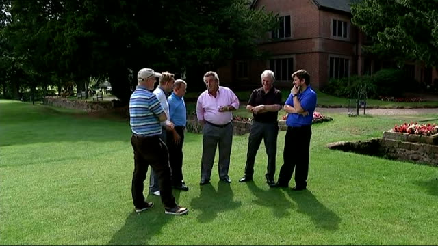 rory mcilroy wins us pga championship england warwickshire coventry ext gvs tony jacklin chatting with unidentified men tony jacklin interview sot... - open stock-videos und b-roll-filmmaterial