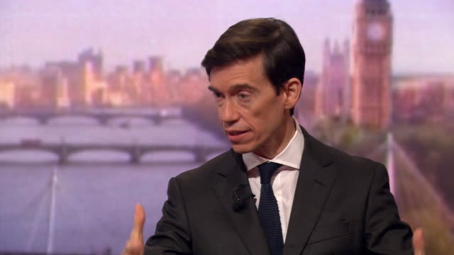 rory stewart discussing his 'citizen's assembly' plan for brexit - andrew marr stock videos & royalty-free footage
