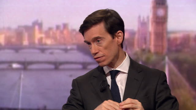 rory stewart saying people should look at him overall when assessing his leadership candidacy not just his school years at eton - andrew marr stock videos & royalty-free footage