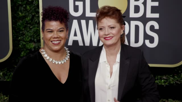 Rosa Clemente and Susan Sarandon at the 75th Annual Golden Globe Awards at The Beverly Hilton Hotel on January 07 2018 in Beverly Hills California