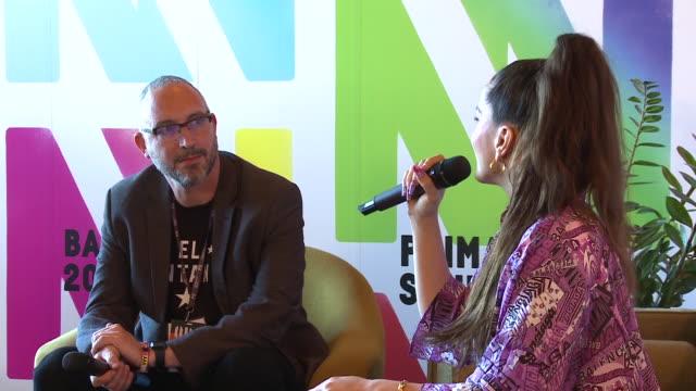 stockvideo's en b-roll-footage met rosalia`s press conference in the primavera sound 2019 barcelona - flamenco