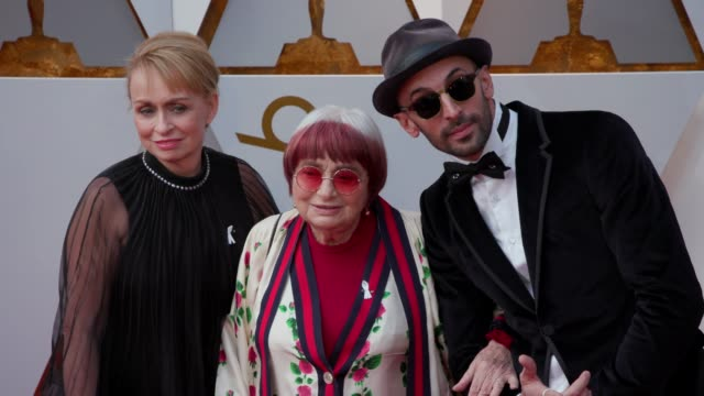 rosalie varda agnès varda and jr at dolby theatre on march 04 2018 in hollywood california - 90th annual academy awards stock videos & royalty-free footage