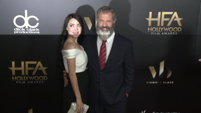 rosalind ross and mel gibson at 20th annual hollywood film awards at the beverly hilton hotel on november 06 2016 in beverly hills california - mel gibson stock videos and b-roll footage