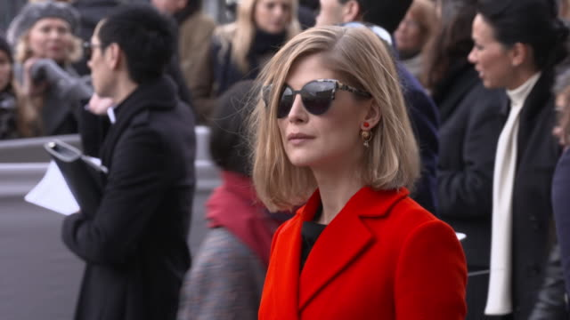 rosamund pike at celebrity sightings in paris on march 04 2016 in london england - rosamund pike stock videos & royalty-free footage