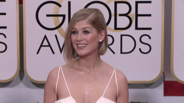 Rosamund Pike at the 72nd Annual Golden Globe Awards Arrivals at The Beverly Hilton Hotel on January 11 2015 in Beverly Hills California