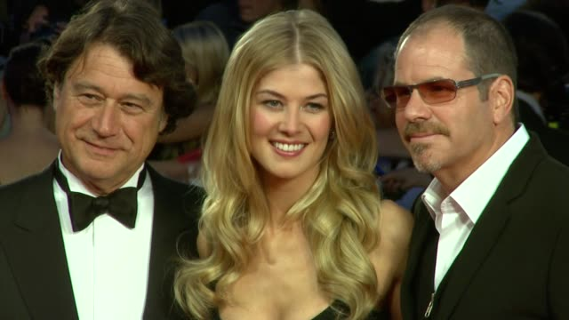 rosamund pike at the 'barney's version' premiere 67th venice film festival at venice - rosamund pike stock videos & royalty-free footage