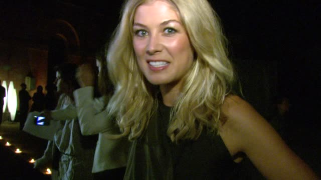 rosamund pike at the jaegerlecoultre party arrivals 67th venice film festival at venice - rosamund pike stock videos & royalty-free footage