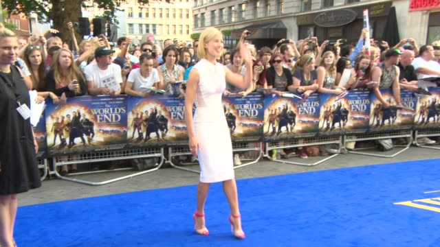 rosamund pike at 'the world's end' world premiere at empire leicester square on july 10 2013 in london england - rosamund pike stock videos & royalty-free footage