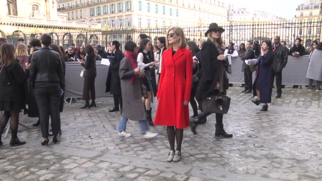 rosamund pike attends the christian dior show as part of the paris fashion week womenswear fall/winter 2016/2017 on march 4 2016 in paris france - rosamund pike stock videos & royalty-free footage