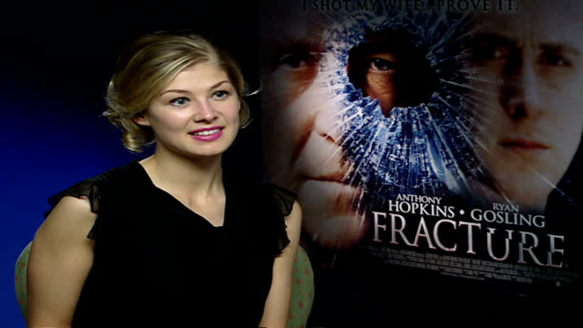 rosamund pike interview rosamund pike interview sot on being a 'bond girl' / on wanting to do another 'bond film' with new 'james bond' daniel craig - bond girl fictional character stock videos & royalty-free footage