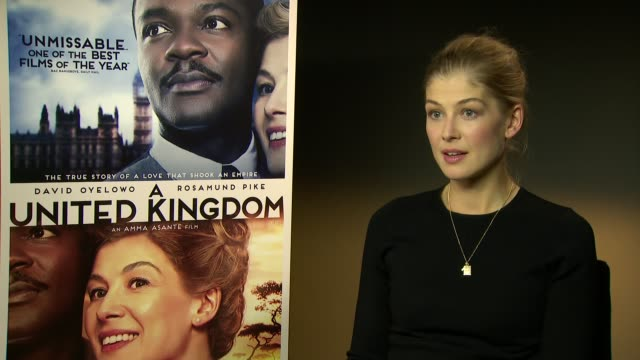 interview rosamund pike on diversity within film hoping that this film being at lff isn't because it is a story of diversity the injustist of the... - rosamund pike stock videos & royalty-free footage